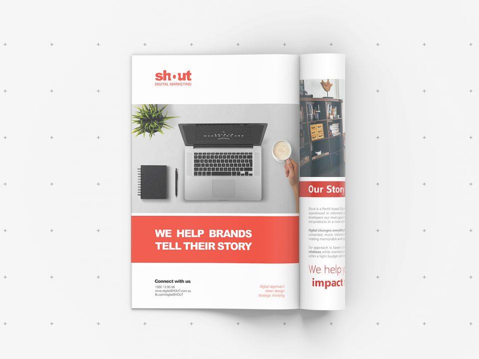 Business Cards Shout Digital Marketing